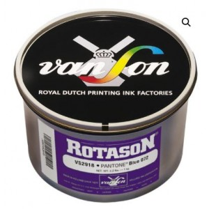 ROTASON INK PANTONE MATCH R39552 DELUXE 209 RED 5-LB CAN